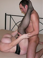 chubby cow covers his whole cock