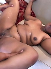 Hot black plumper Tigger gets her throat stretched with cock before enjoying a warm cum facial