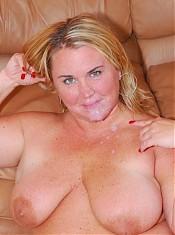 Blonde BBW slut takes a big black dick in her butthole!
